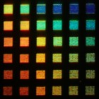 Rice University's new color display technology is capable of producing dozens of colors, including rich red, green and blue tones comparable to those found in high-definition LCD displays.<br /> CREDIT: J. Olson/Rice University