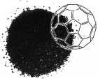 Carbon-60 molecules, also known as buckyballs, were combined with amines in a compound that absorbs a fifth of its weight in carbon dioxide. It shows potential as an environmentally friendly material for capturing carbon from natural gas wells and industrial plants. (Credit: the Barron Research Group/Rice University)