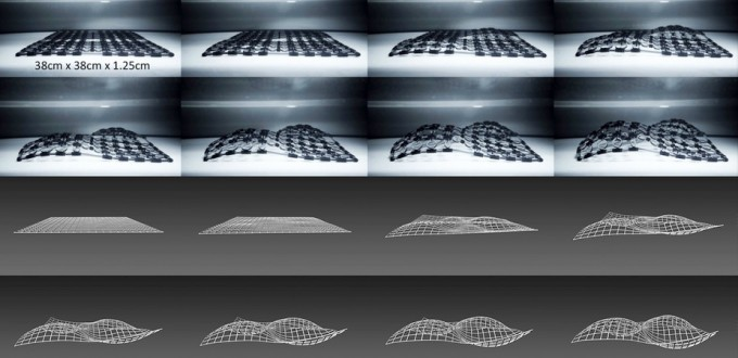 Shapeshifting: 3D printed materials that change shape over time. (Credit: Dan Raviv/Scientific Reports)