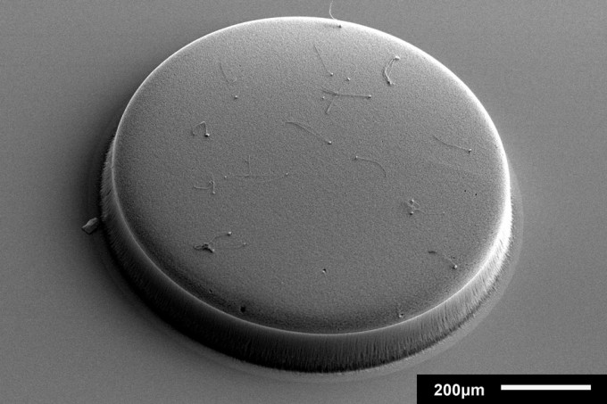 A patterned and cylindrical structure made up of carbon nanotubes. (credit: Courtesy of the researchers)