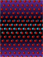 A representation of a 3-D atomic resolution screw dislocation in a platinum nanoparticle. (Illustration: Chien-Chun Chen and I-Sheng Chou, UCLA)