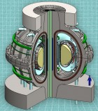 A cutaway view of the proposed ARC reactor. Thanks to powerful new magnet technology, the much smaller, less-expensive ARC reactor would deliver the same power output as a much larger reactor. (credit: the MIT ARC team)