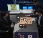 AlphaGo (left) vs. Sedol (right) in last minute of Match 1 (credit: DeepMind)