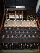 An Enigma machine at the Walker Library of the History of Human Imagination (credit: Michael Shadlen)