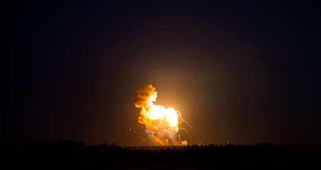 Antares launch failure, (credit: NASA)