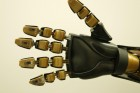 Model robotic hand with artificial mechanoreceptors (credit: Bao Research Group, Stanford University)