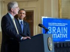 President Barack Obama is introduced by Dr. Francis Collins, Director, National Institutes of Health, at the BRAIN Initiative event in the East Room of the White House, April 2, 2013 (credit: Official White House Photo by Chuck Kennedy)