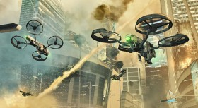 "Future autonomous drones as portrayed in ""Call of Duty Black Ops 2"" (credit: Activision Publishing)"