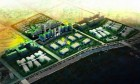 Artist rendering of city-sized cloud computing and office complex being built in China (IBM)