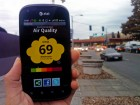 The CitiSense sensors transmit their air quality readings to smart phones (credit: Jacobs School of Engineering - UC San Diego)
