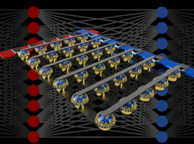 Crossbar arrays of non-volatile memories can accelerate the training of neural networks by performing computation at the actual location of the data. (credit: IBM Research)
