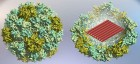 Virus-protein-coated DNA origami nanostructures. With the help of protein encapsulation, DNA origamis can be transported into human cells much more efficiently. (credit: Veikko Linko and Mauri Kostiainen)