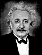 Albert Einstein portrait taken in 1935 in Princeton