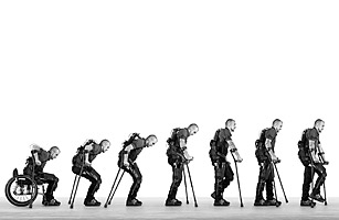 Ekso exoskeleton allowing traumatic spinal cord injury patients to walk
