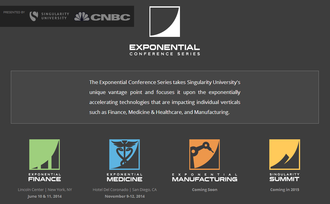 Exponential Conference Series by Singularity University platform ...