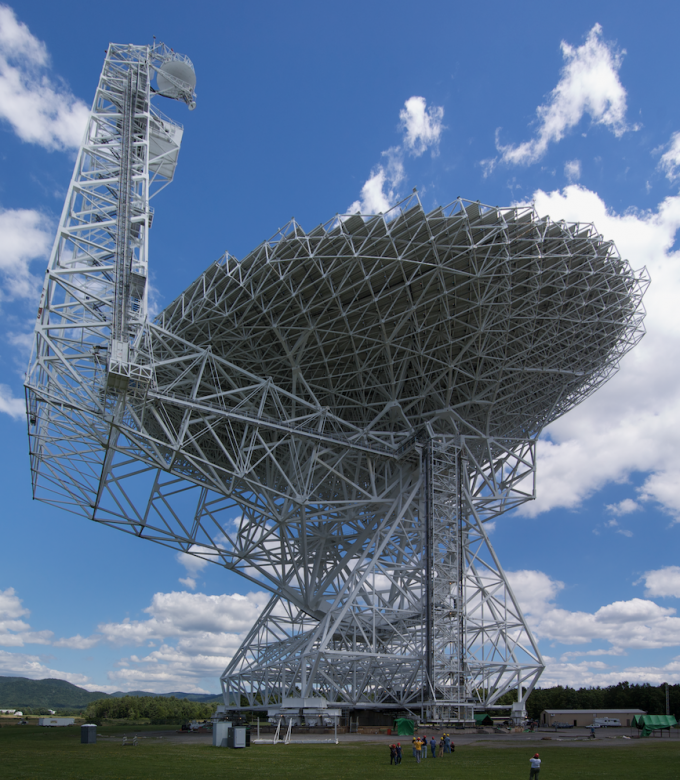 Greenbank Radio Telescope (credit: Geremia/CC)
