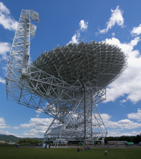 Robert C. Byrd Green Bank Telescope (GBT), the world's largest fully steerable single-aperture antenna (credit: NRAO)