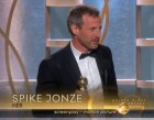 Her wins 71st annual Golden Globe award Spike Jonze on stage