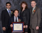 "Saurabh Sinha, PhD, Chair of the IEEE Educational Activities Board; Ray Kurzweil, IEEE Eta Kappa Nu ""Eminent Member"" honoree; Karen Panetta, PhD, Chair of the IEEE Education Activities Board and Recognition Committee; John Orr, PhD, President of Eta Kappa Nu, the IEEE Honor Society. (credit: IEEE)"