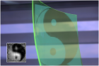 A comparison between the image being focused on the sensor surface and the reconstructed image (inset) (credit: Oliver Bimber, Johannes Kepler/ University Linz)