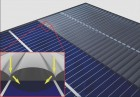 A special invisibility cloak (right) guides sunlight past the contacts for current removal to the active surface area of the solar cell. (credit: Graphics: Martin Schumann, KIT)
