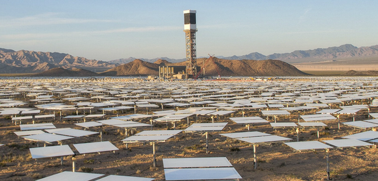 The Ivanpah Solar Electric Generating System uses concentric circles ...