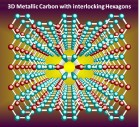 3D Metallic carbon with interlocking hexagons (credit: Qian Wang, Ph.D.)