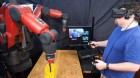 VR system from Computer Science and Artificial Intelligence Laboratory could make it easier for factory workers to telecommute. (credit: Jason Dorfman, MIT CSAIL)