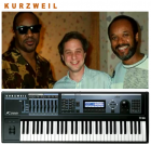 Kurzweil keyboard Ray Kurzweil with Stevie Wonder