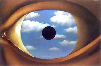 The False Mirror, by René Magritte, 1928. Oil on canvas. © 2010 C. Herscovici, Brussels / Artists Rights Society (ARS), New York.