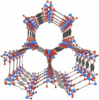 Mg-MOF-74 is an open metal site MOF whose porous crystalline structure could enable it to serve as a storage vessel for capturing and containing the carbon dioxide emitted from coal-burning power plants. (National Academy of Sciences)