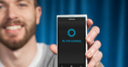 Microsoft Windows Phone with Cortana screen