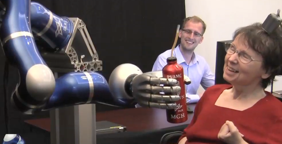 People With Paralysis Control Robotic Arms Using Brain