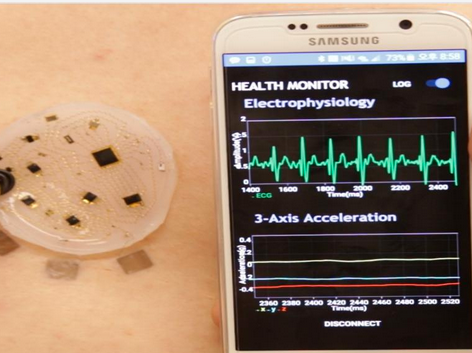 Mobile Application of the Soft Electronic Skin ft