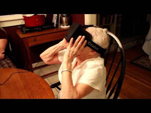 My 90 year old grandmother tries the Oculus Rift