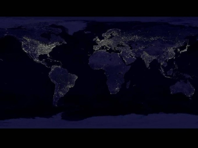 Night-time lights from space correlate to everything from electricity consumption and CO2 emissions, to gross domestic product, population and poverty. (credit: Image courtesy of NASA)