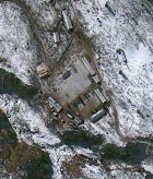 North Korean test site where a nuclear test took place February 12, 2013 (credit: Google Earth)