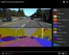 This is an example of SegNet in action: the separate components of the road scene are all labelled in real time. (credit: Alex Kendall)