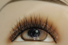 Smart contact lens on mannequin eye
