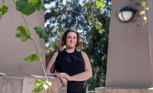"""Sonia Olea Coontz had a stroke in 2011 that affected the movement of her right arm and leg. After modified stem cells were injected into her brain as part of a clinical trial, she says her limbs """"woke up."""" (credit: Mark Rightmire/Stanford University School of Medicine)"""