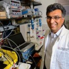 USC professor Sri Narayan's research focuses on the fundamental and applied aspects of electrochemical energy conversion and storage to reduce the carbon footprint of energy use and by providing energy alternatives to fossil fuel (credit: USC Photo/Gus Ruelas)
