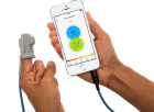 The Phone Oximeter - phone and sensor