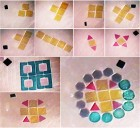 Two-dimensional micro-robotic coding of material composition