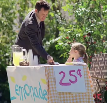 Verizon Wireless Susie lemonade stand commercial