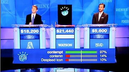 Watson vs. humans, January 13, 2011 (credit: IBM)