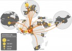 Air traffic connections from West African countries to the rest of the world (credit: PLOS Currents: Outbreaks)