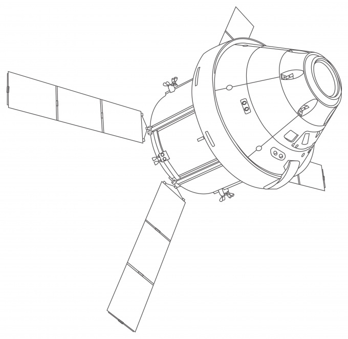 art - Orion spacecraft blueprint - no. 2