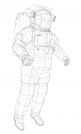 art - astronaut blueprint - no. 4