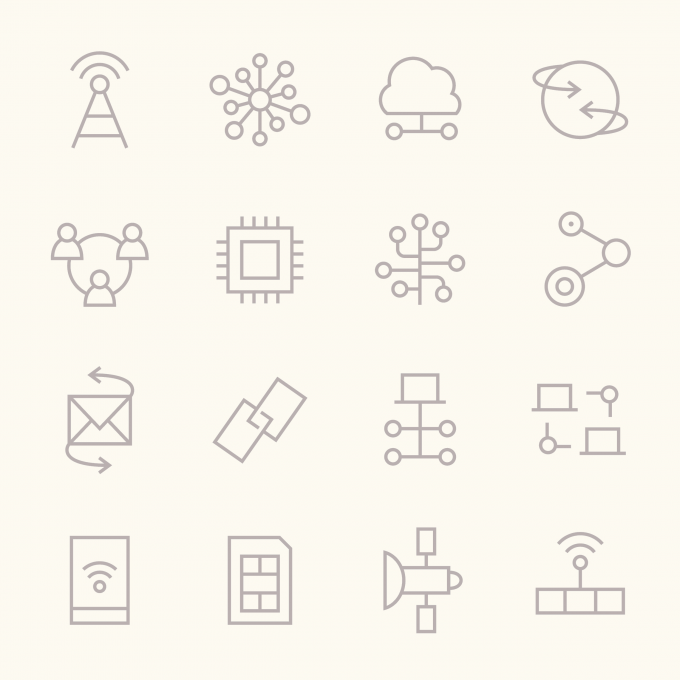 art - icon set - electronics - no. 1