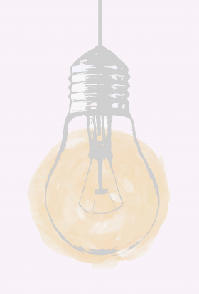 art - light bulb + glow - no. 2